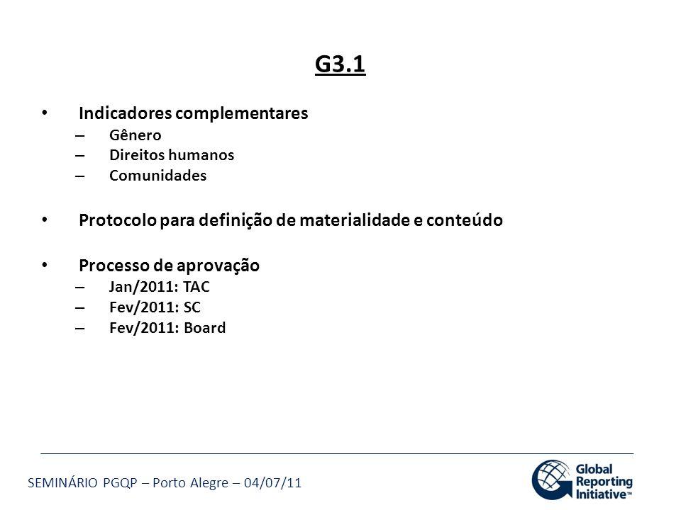 G3.1 Indicadores complementares