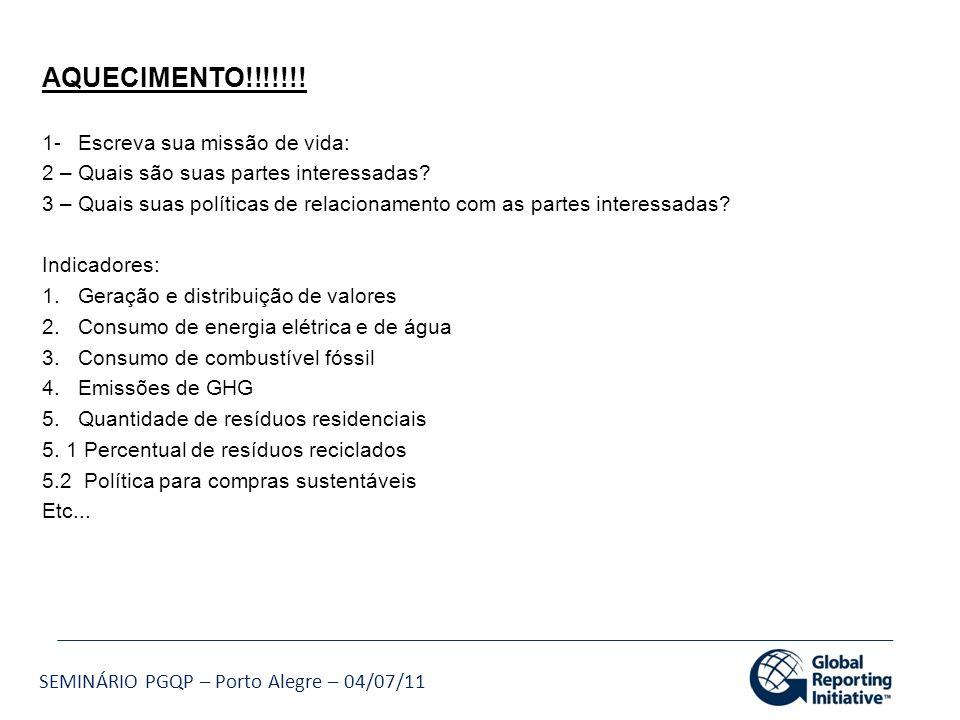 AQUECIMENTO!!!!!!! 1- Escreva sua missão de vida: