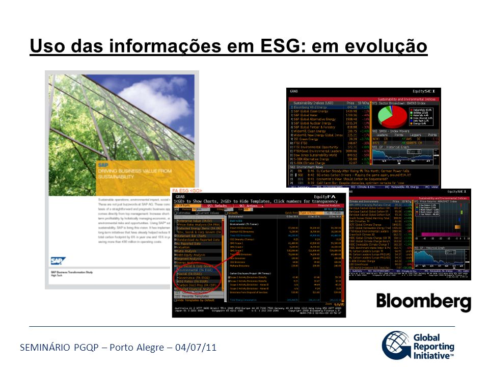 Uso das informações em ESG: em evolução