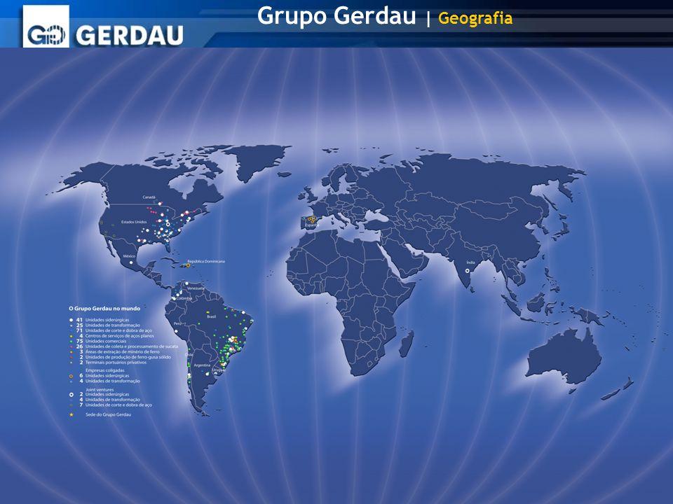 Grupo Gerdau | Geografia
