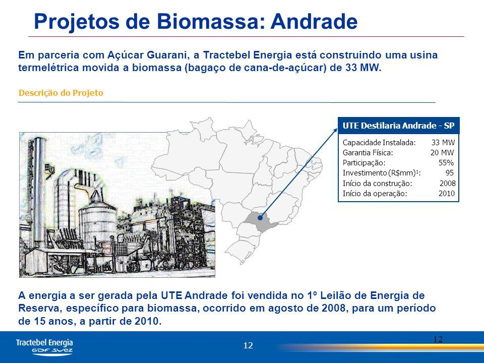 UTE Destilaria Andrade - SP