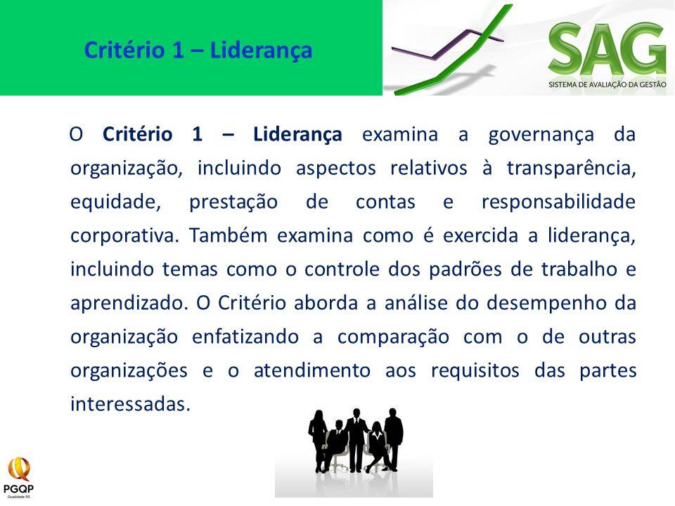 Critério 1 – Liderança