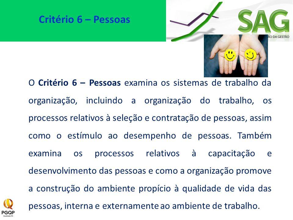 Critério 6 – Pessoas