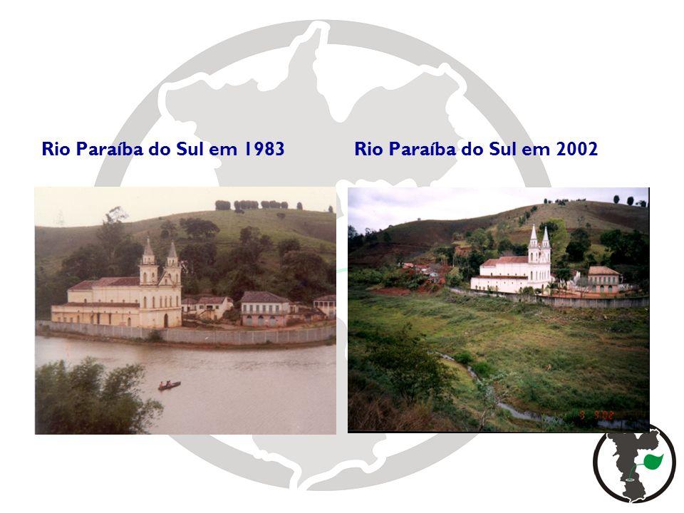 Rio Paraíba do Sul em 1983 Rio Paraíba do Sul em 2002