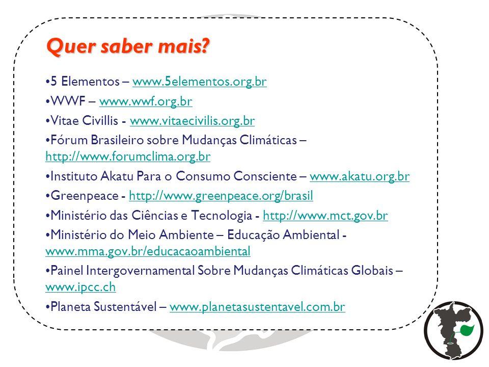 Quer saber mais 5 Elementos – www.5elementos.org.br