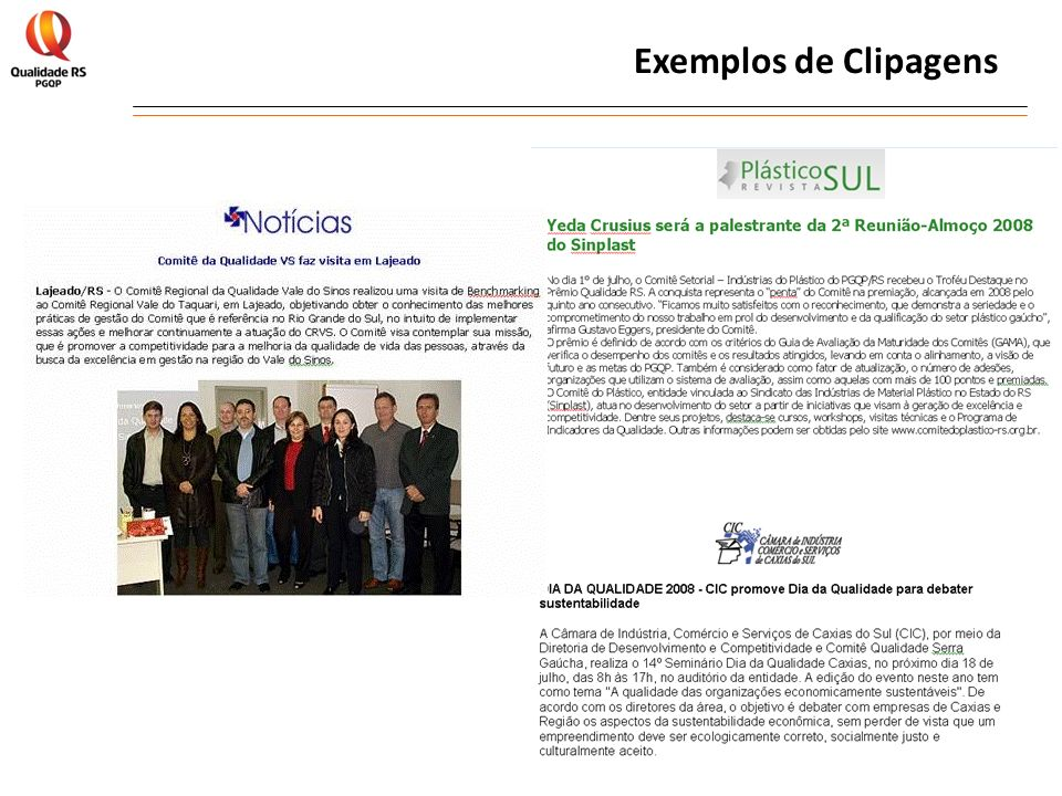 Exemplos de Clipagens