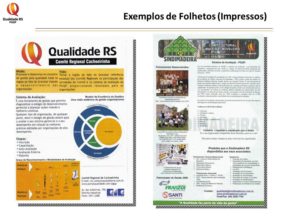 Exemplos de Folhetos (Impressos)