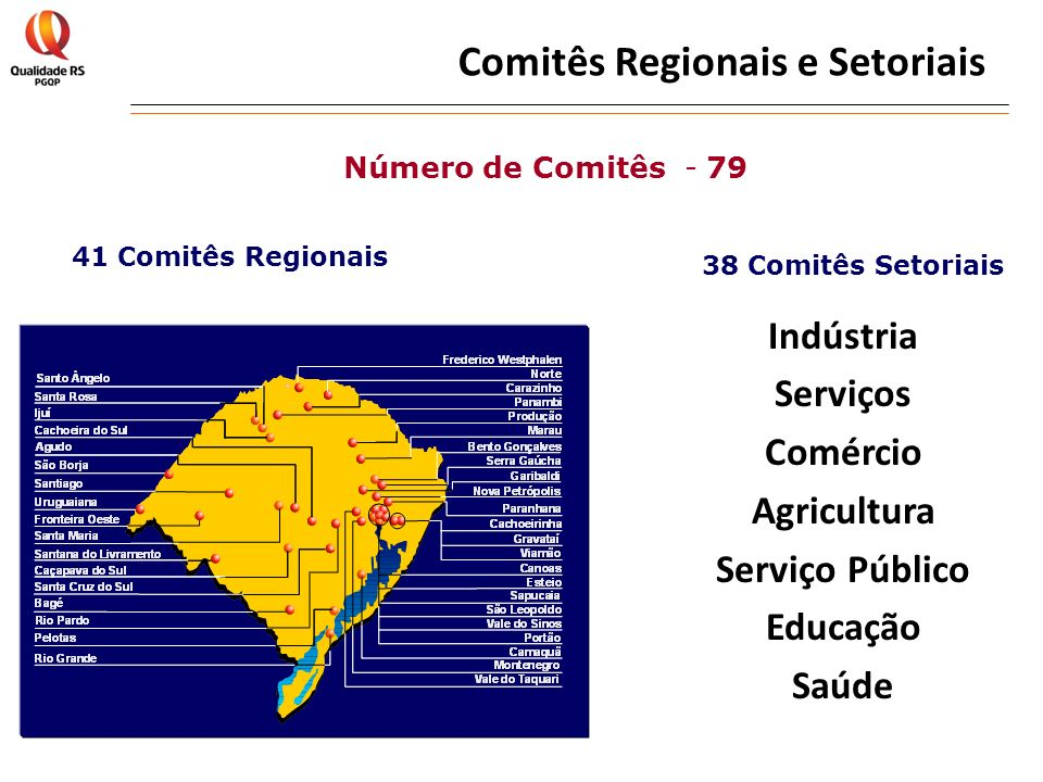 Comitês Regionais e Setoriais
