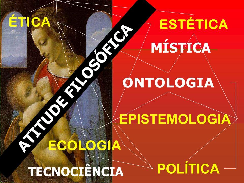 ATITUDE FILOSÓFICA ÉTICA ESTÉTICA MÍSTICA ONTOLOGIA EPISTEMOLOGIA