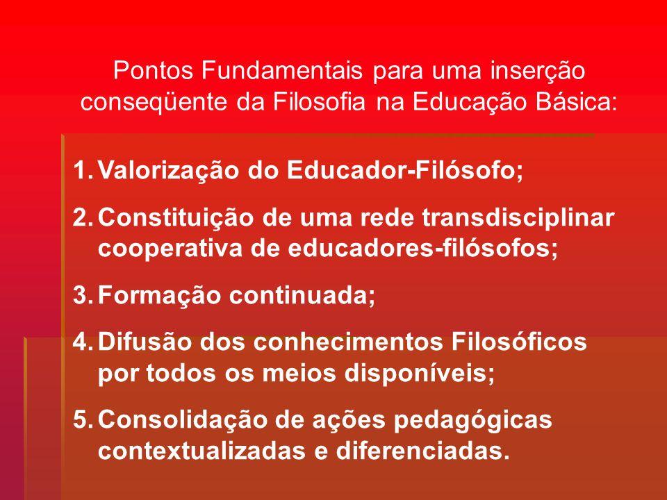 Pontos Fundamentais para uma inserção conseqüente da Filosofia na Educação Básica: