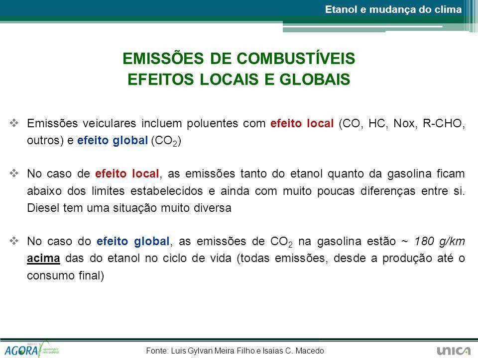 EMISSÕES DE COMBUSTÍVEIS EFEITOS LOCAIS E GLOBAIS