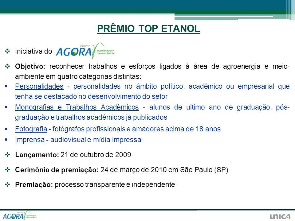 PRÊMIO TOP ETANOL Iniciativa do