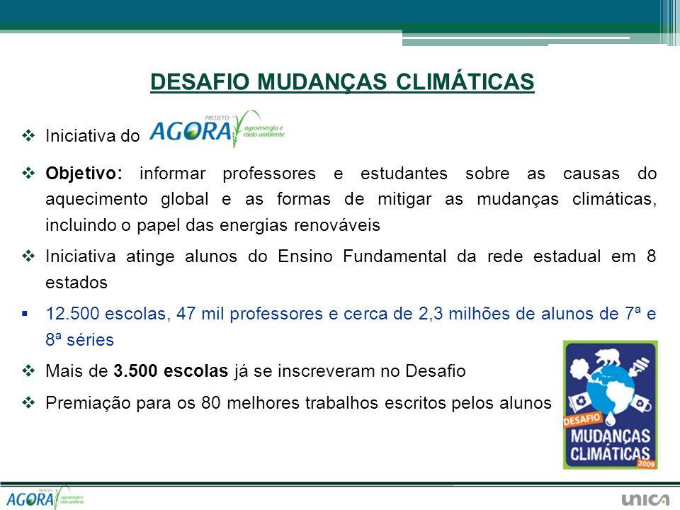 DESAFIO MUDANÇAS CLIMÁTICAS