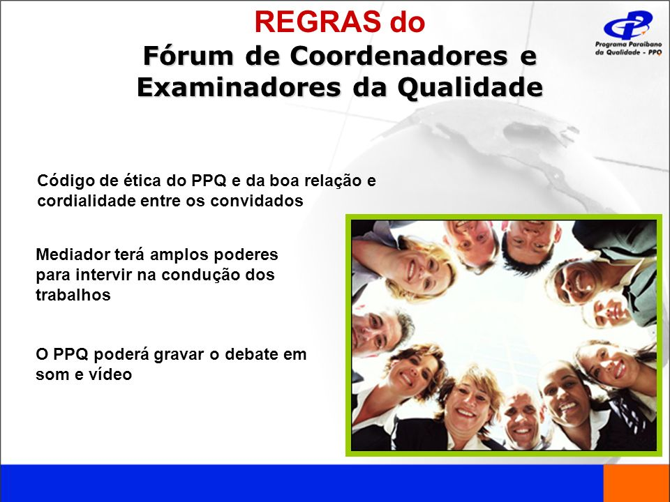 Fórum de Coordenadores e Examinadores da Qualidade