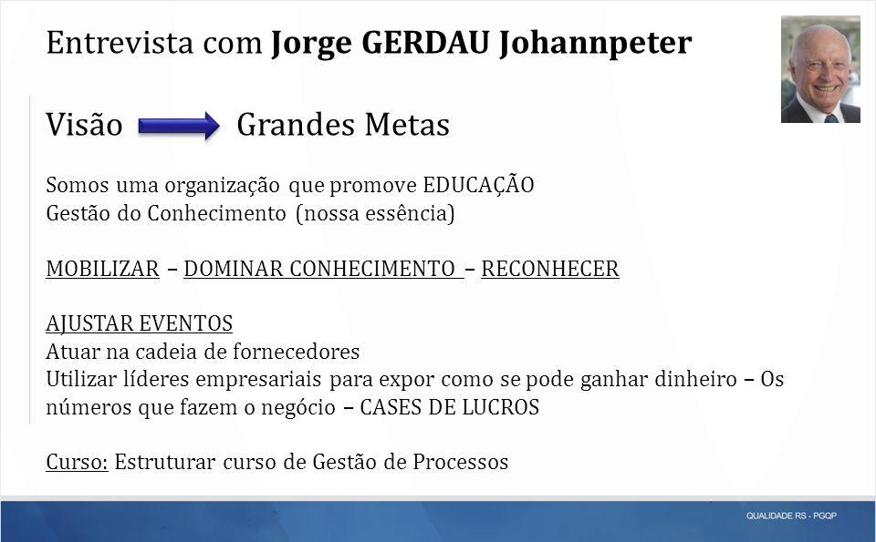 Entrevista com Jorge GERDAU Johannpeter Visão Grandes Metas