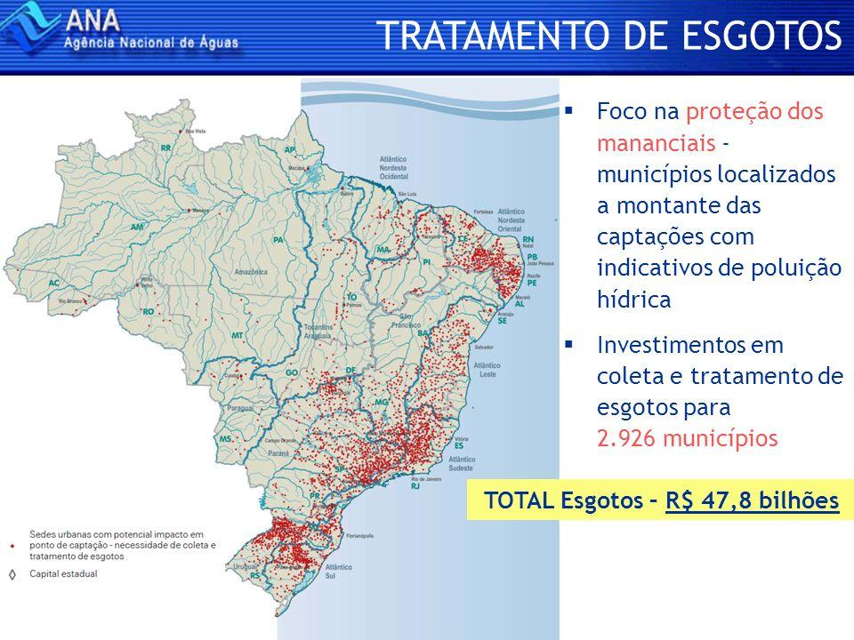 TOTAL Esgotos – R$ 47,8 bilhões