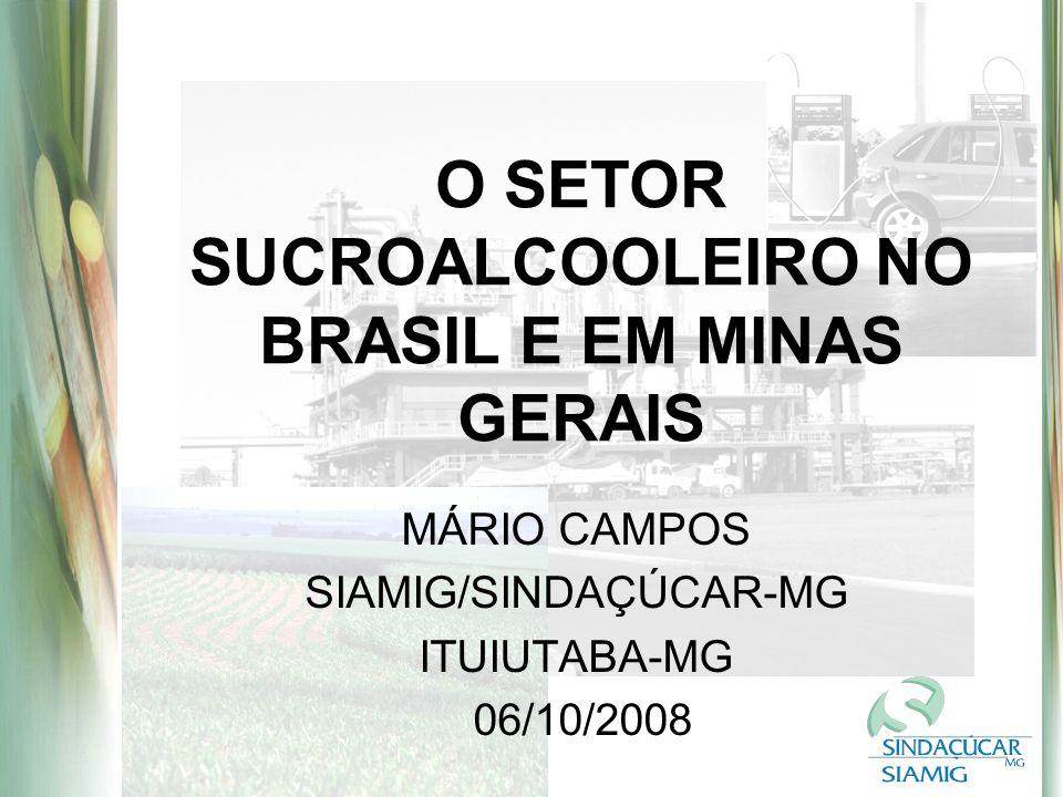 O SETOR SUCROALCOOLEIRO NO BRASIL E EM MINAS GERAIS