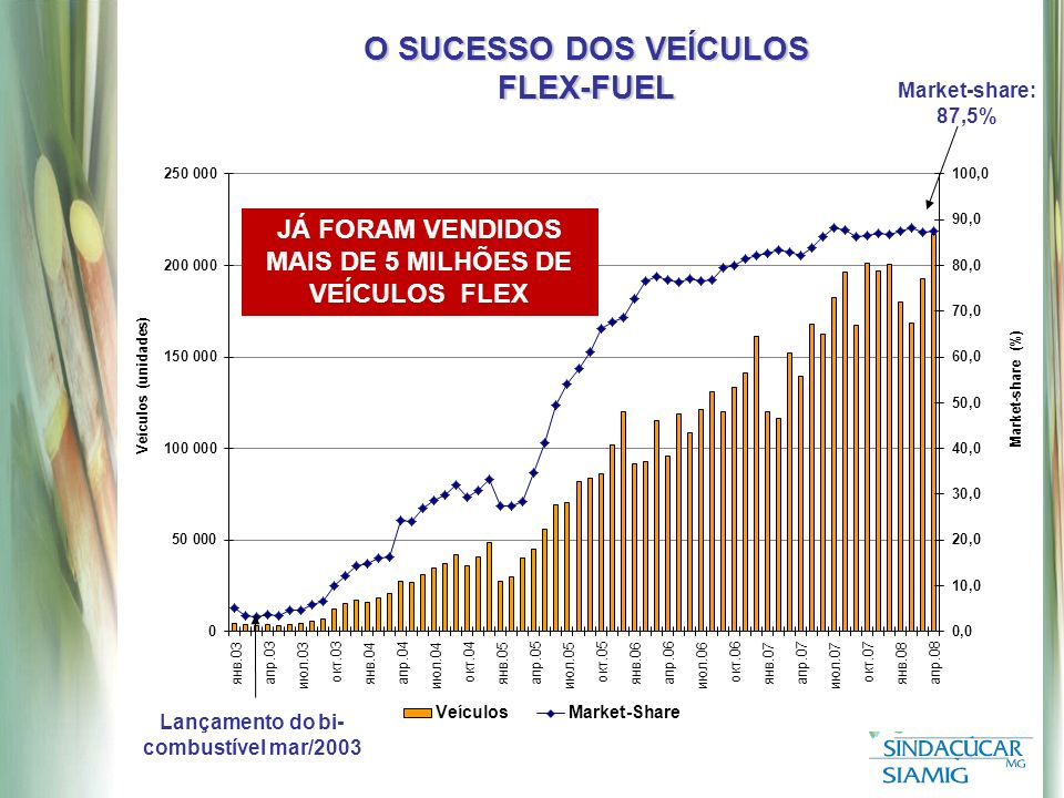 O SUCESSO DOS VEÍCULOS FLEX-FUEL