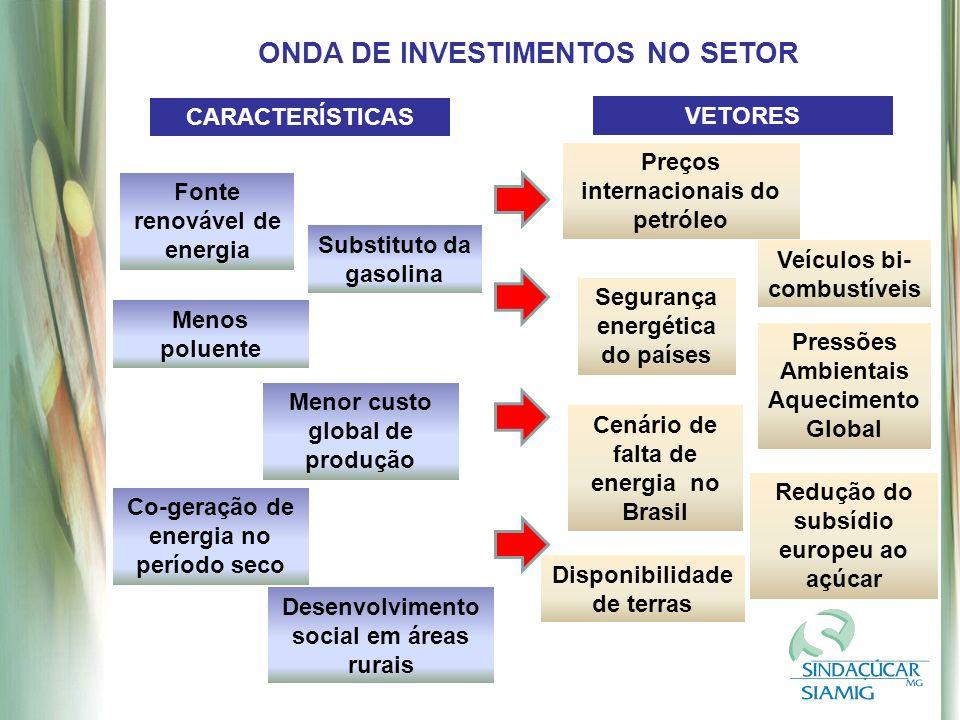 ONDA DE INVESTIMENTOS NO SETOR