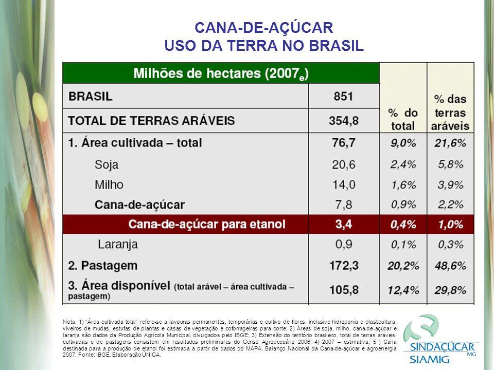 CANA-DE-AÇÚCAR USO DA TERRA NO BRASIL