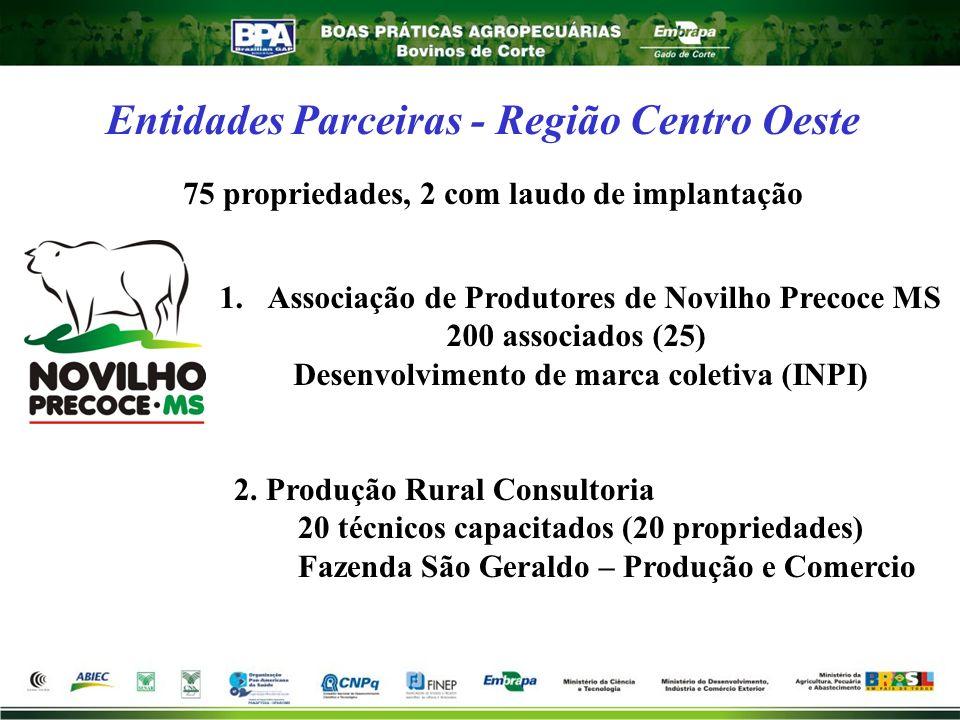 Entidades Parceiras - Região Centro Oeste