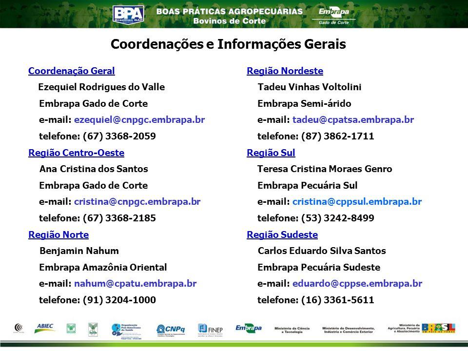 Coordenações e Informações Gerais