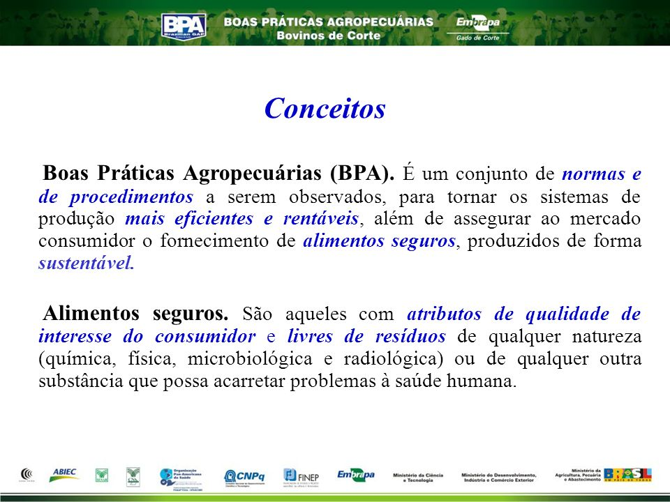 Boas Práticas Agropecuárias (BPA)