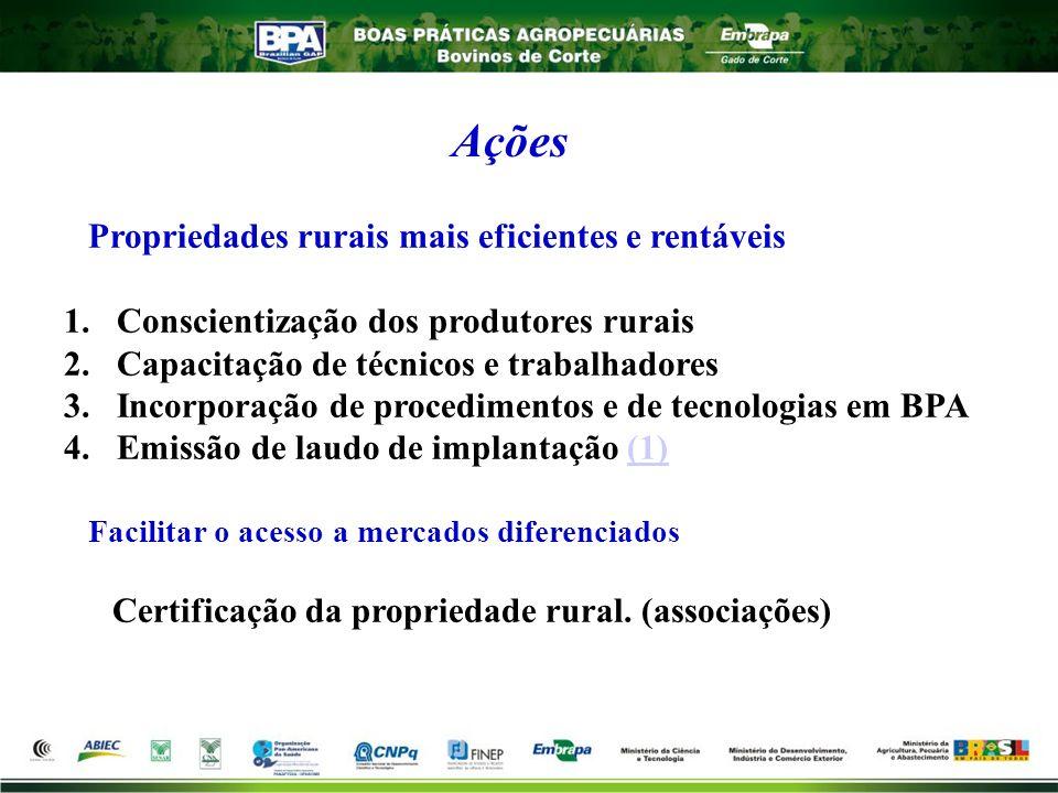 Conscientização dos produtores rurais