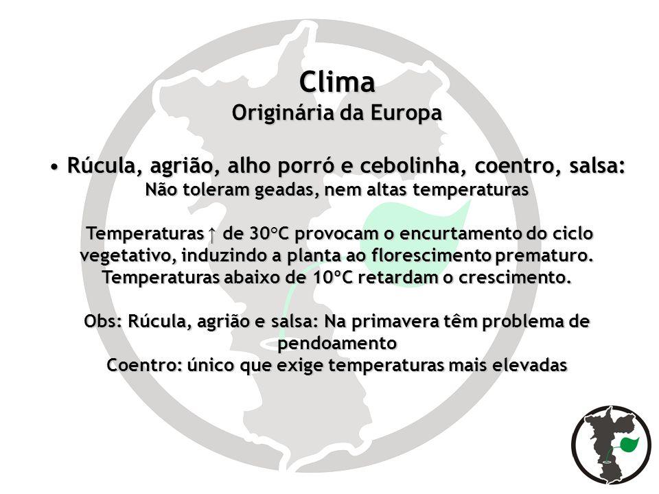 Clima Originária da Europa