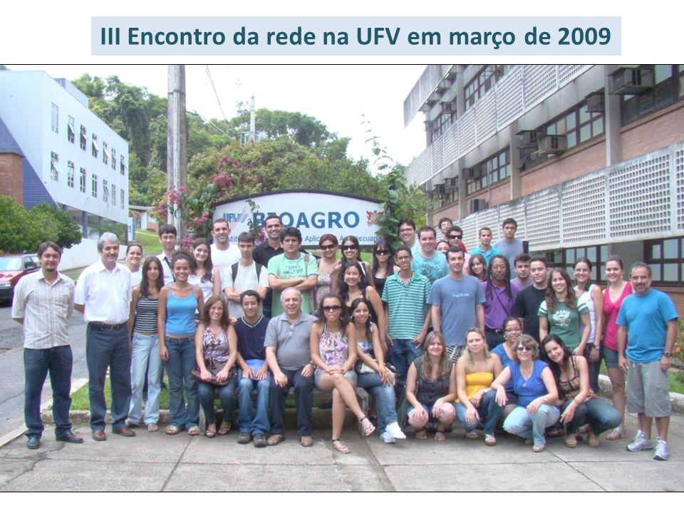 III Encontro da rede na UFV em março de 2009