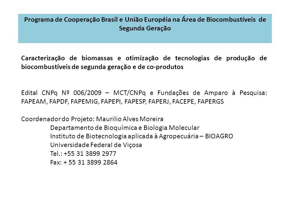 Programa de Cooperação Brasil e União Européia na Área de Biocombustíveis de Segunda Geração