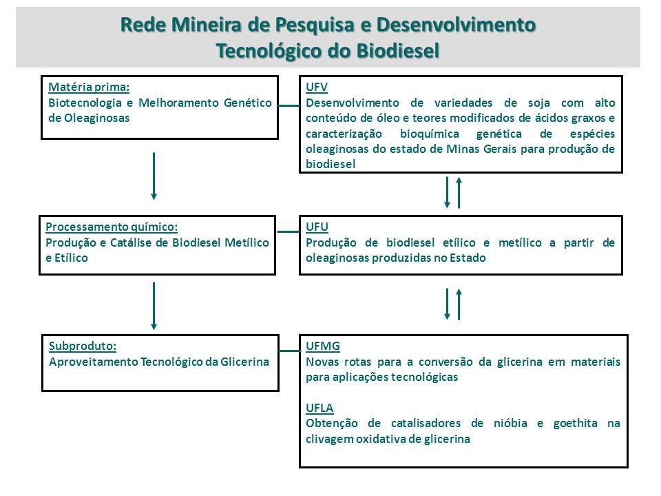 Rede Mineira de Pesquisa e Desenvolvimento Tecnológico do Biodiesel