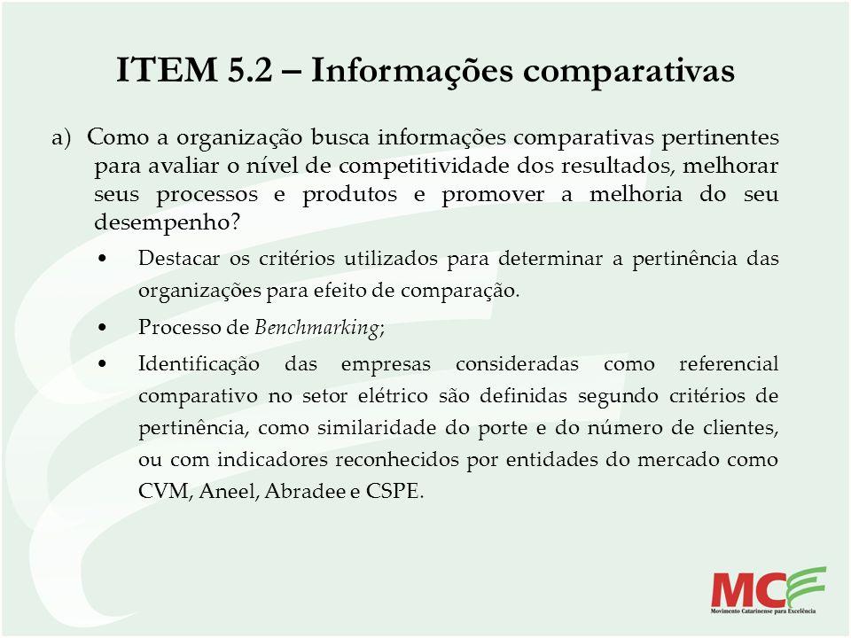 ITEM 5.2 – Informações comparativas