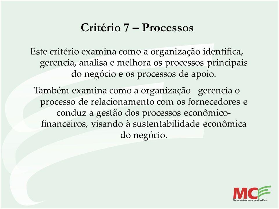 Critério 7 – Processos
