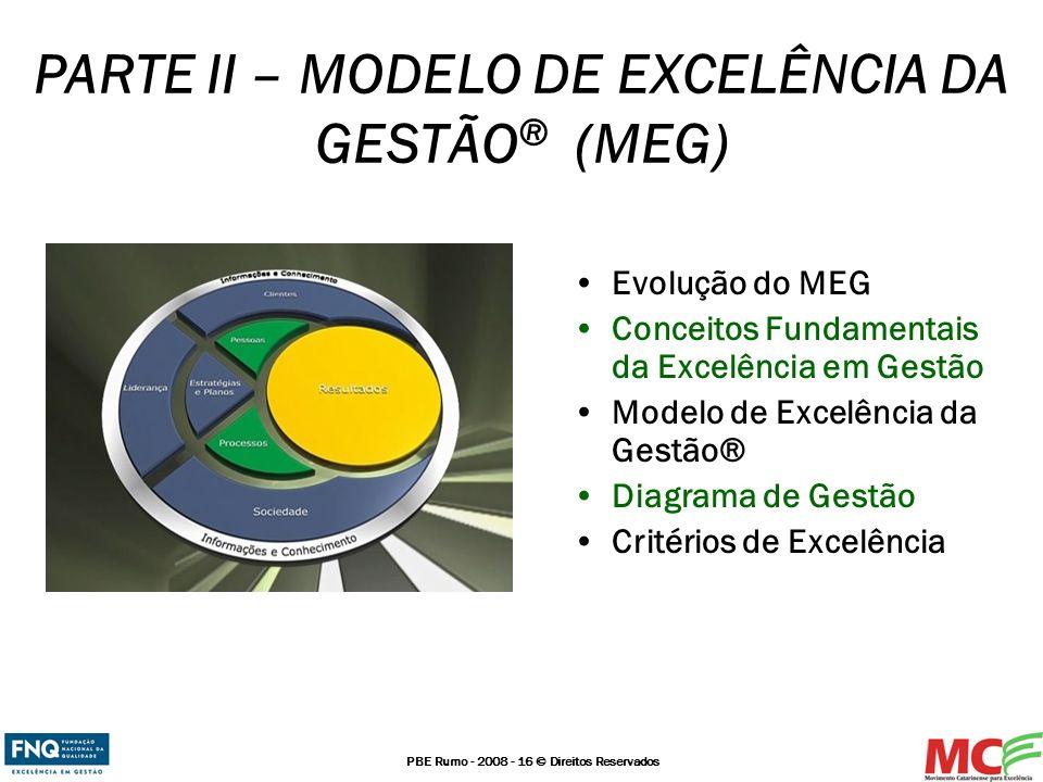 PARTE II – MODELO DE EXCELÊNCIA DA GESTÃO® (MEG)