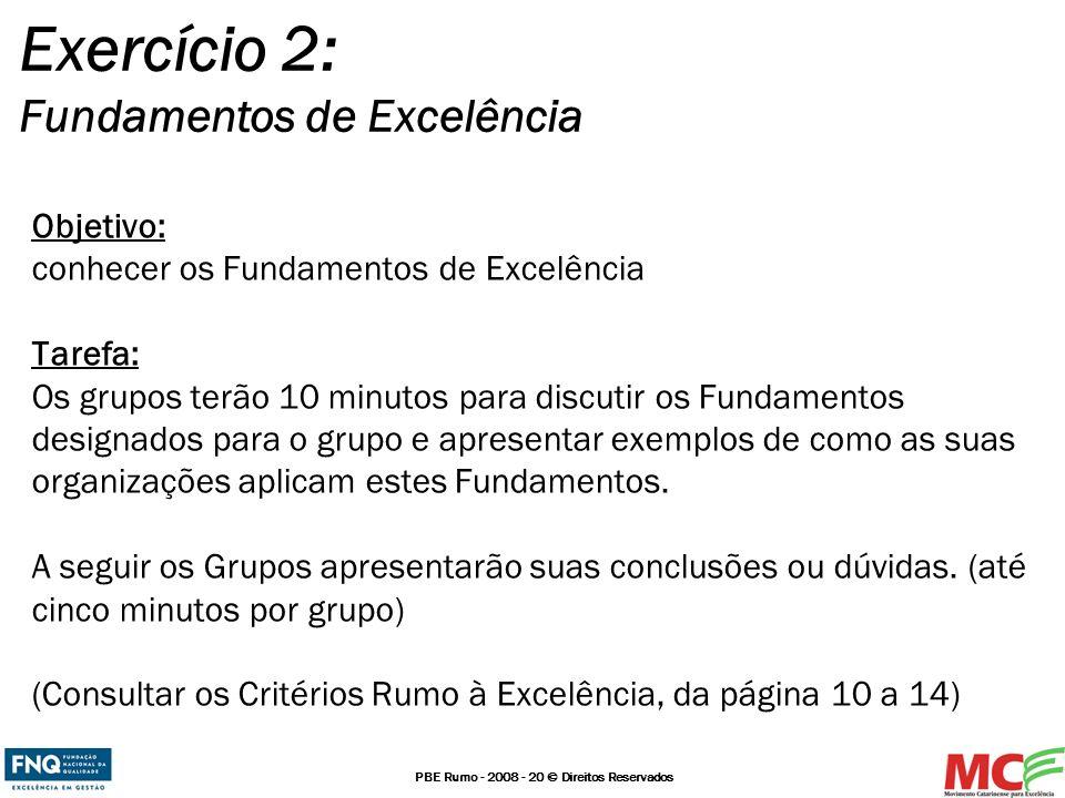 Exercício 2: Fundamentos de Excelência