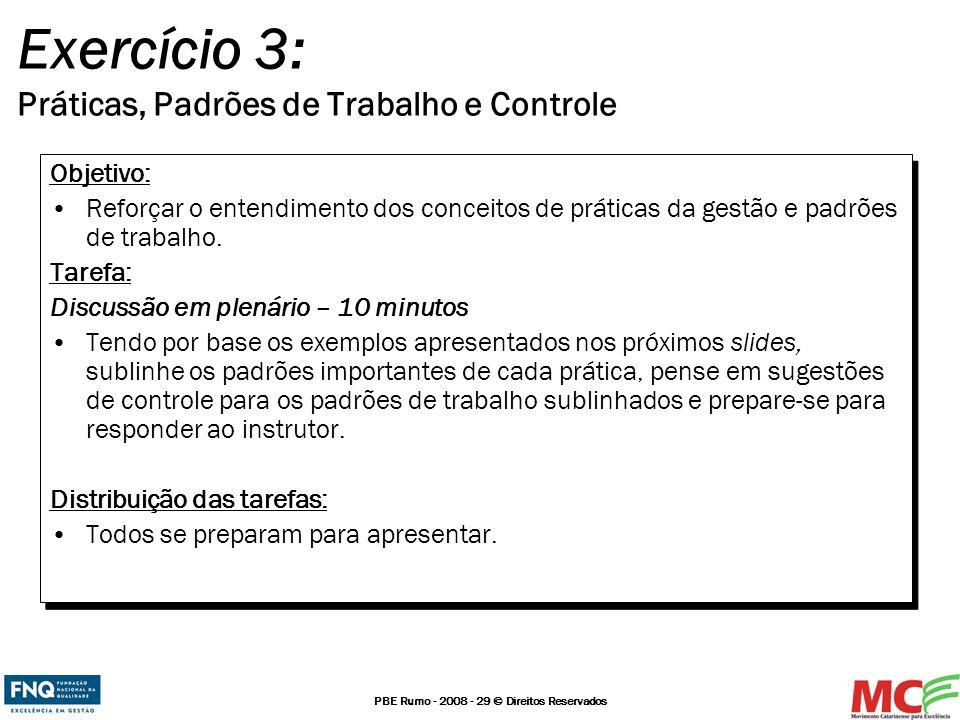 Exercício 3: Práticas, Padrões de Trabalho e Controle