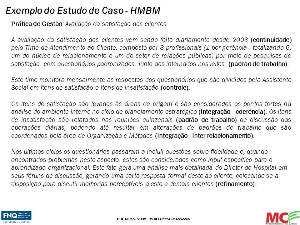 Exemplo do Estudo de Caso - HMBM