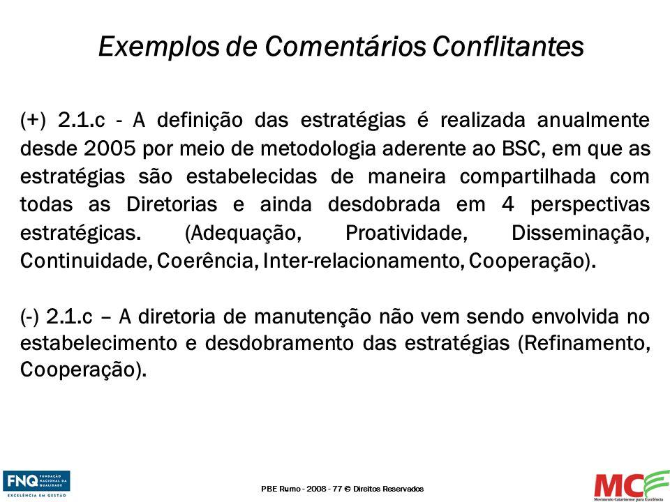 Exemplos de Comentários Conflitantes