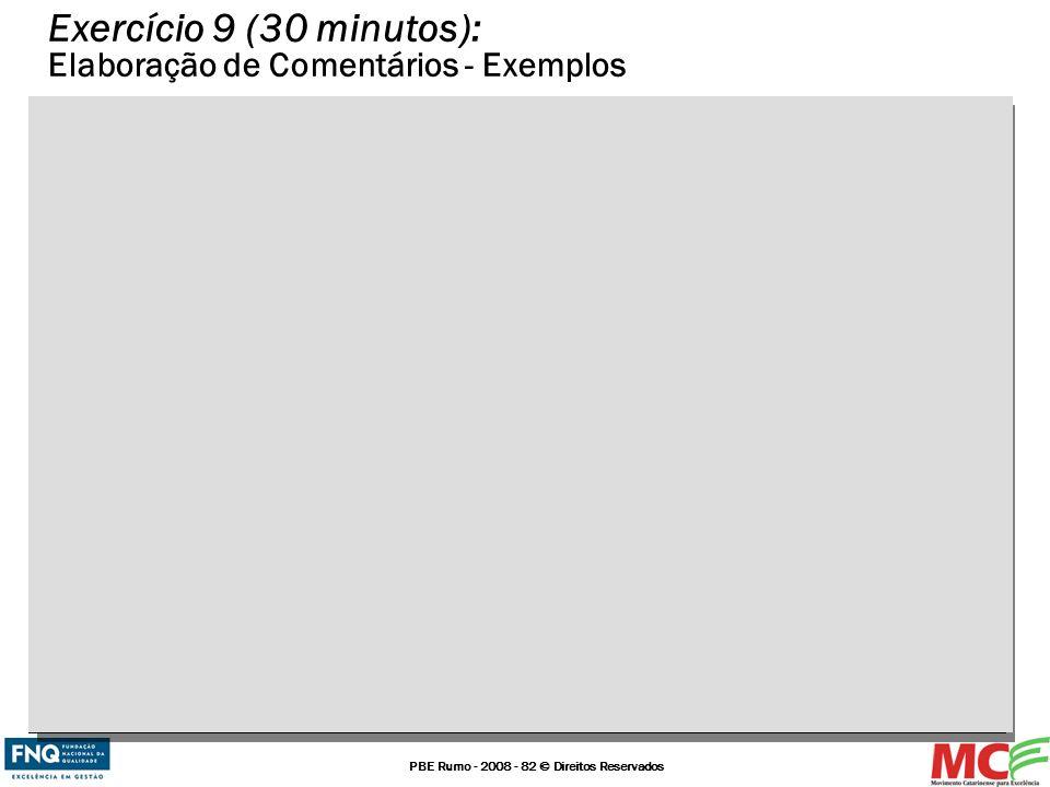 Exercício 9 (30 minutos): Elaboração de Comentários - Exemplos