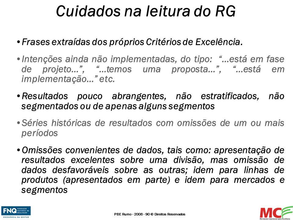 Cuidados na leitura do RG