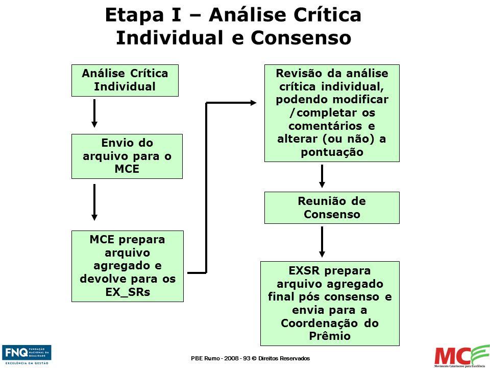 Etapa I – Análise Crítica Individual e Consenso