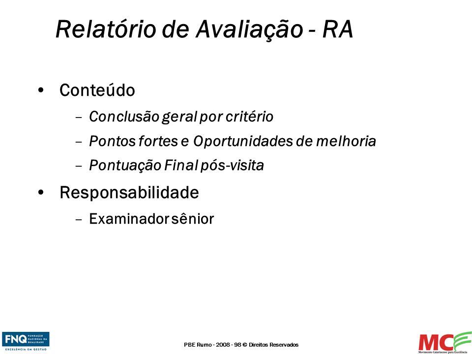 Relatório de Avaliação - RA