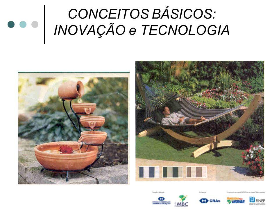 CONCEITOS BÁSICOS: INOVAÇÃO e TECNOLOGIA