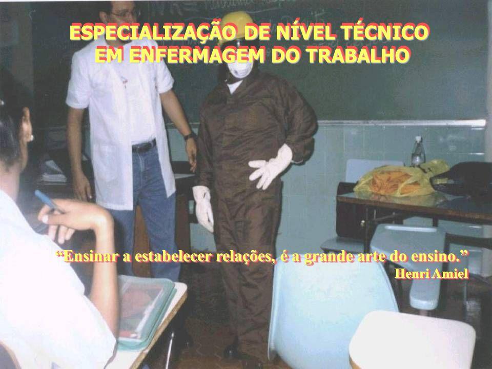 ESPECIALIZAÇÃO DE NÍVEL TÉCNICO EM ENFERMAGEM DO TRABALHO