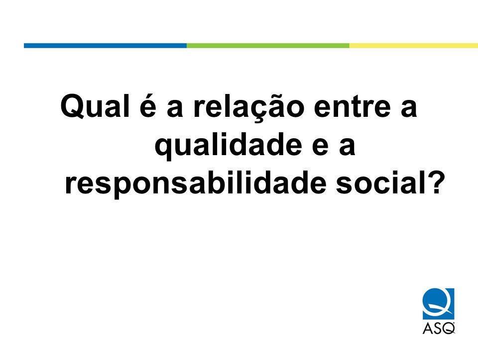 Qual é a relação entre a qualidade e a responsabilidade social