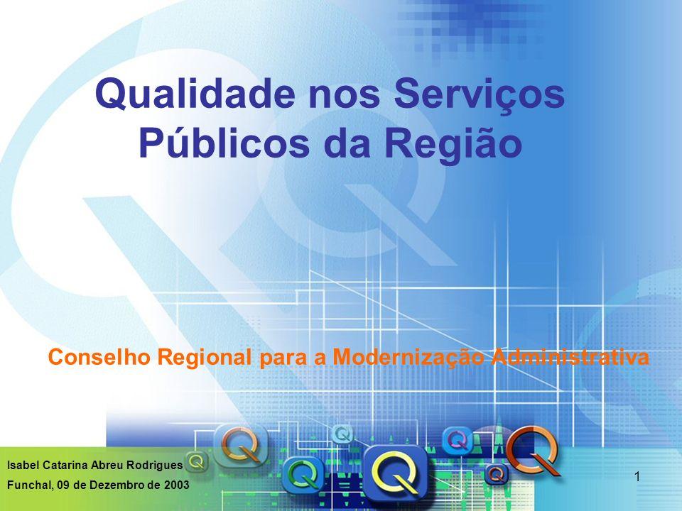 Qualidade nos Serviços Públicos da Região