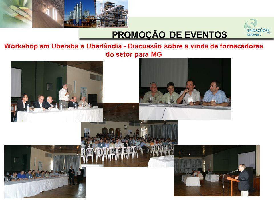 PROMOÇÃO DE EVENTOSWorkshop em Uberaba e Uberlândia - Discussão sobre a vinda de fornecedores do setor para MG.