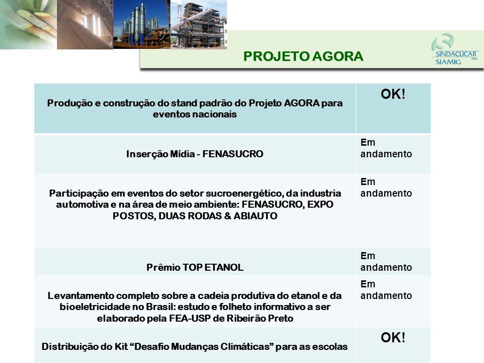 PROJETO AGORAProdução e construção do stand padrão do Projeto AGORA para eventos nacionais. OK! Inserção Mídia - FENASUCRO.