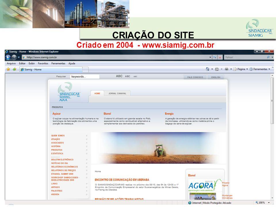 Criado em 2004 - www.siamig.com.br